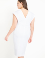 Belted Wrap Dress White