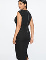Jason Wu X ELOQUII Twist Shoulder Sheath Dress Totally Black