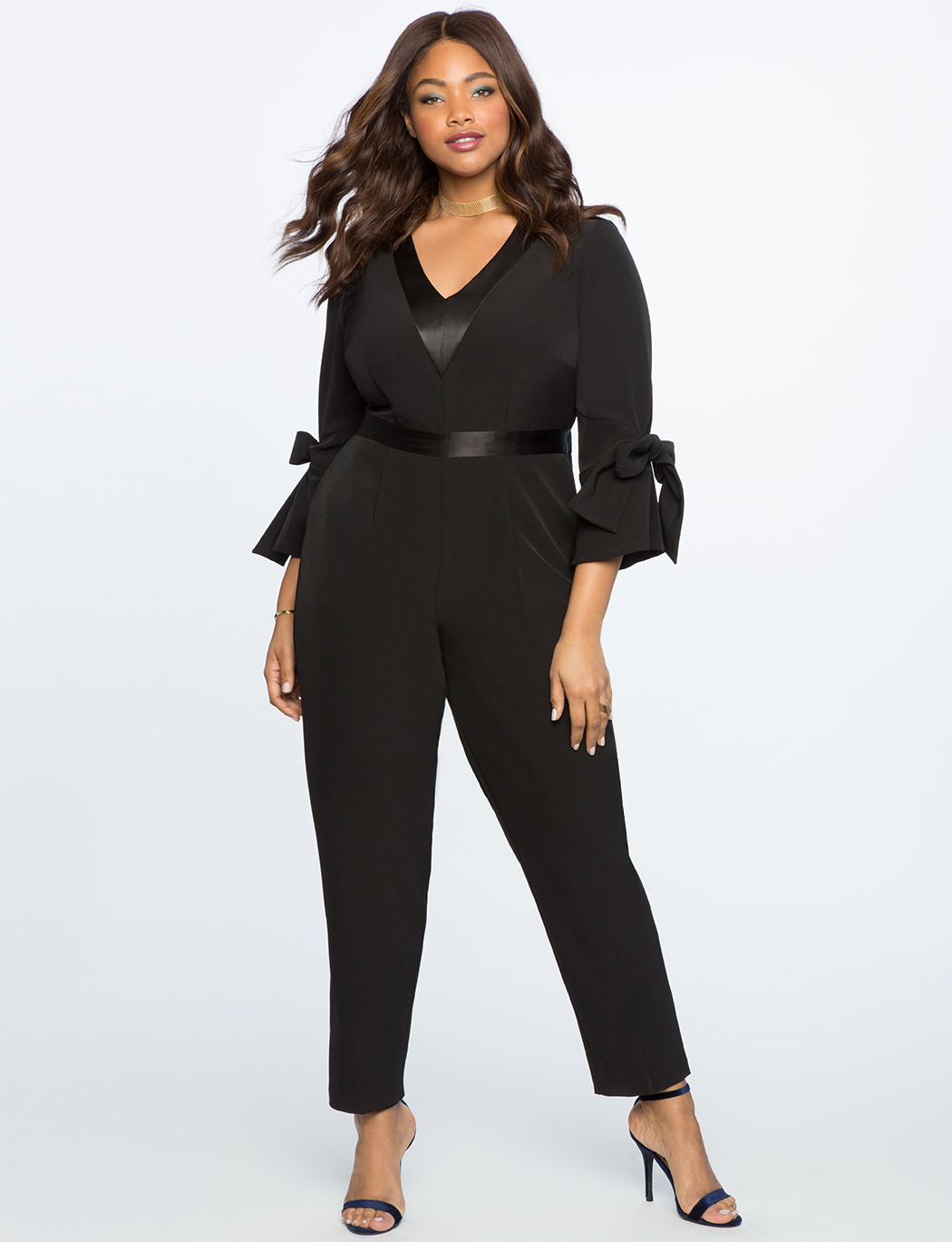 87d9f83d846 Tie Sleeve Detail Jumpsuit