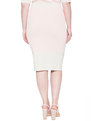 Rib Knit Pencil Skirt Rose cloud with Gold Lurex