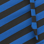 Black and Dazzling Blue Stripe