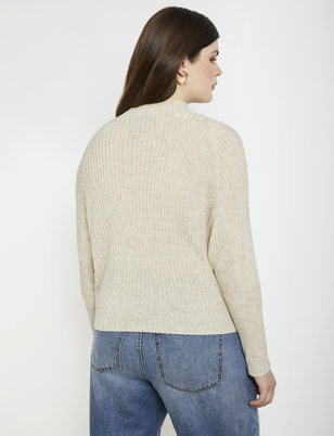 Dolman Sleeve Ribbed Sweater