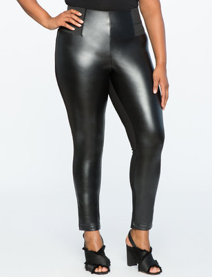 Miracle Flawless Faux Leather Front Leggings