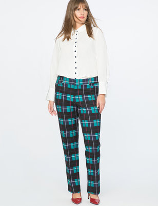 Draper James for ELOQUII Printed Plaid Pant