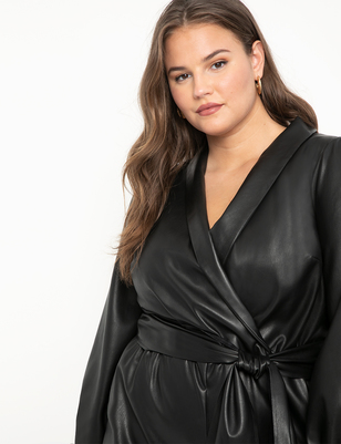 Vegan Faux Leather Romper