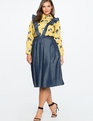 Chambray Skirt with Removable Ruffle Straps Medium Wash