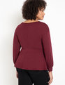 Puff Sleeve Peplum Top Port Royal