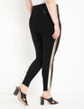 Miracle Flawless Legging with Sequin Side Stripe Black