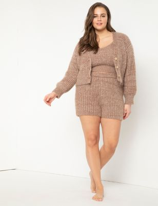 Fuzzy Sweater Shorts