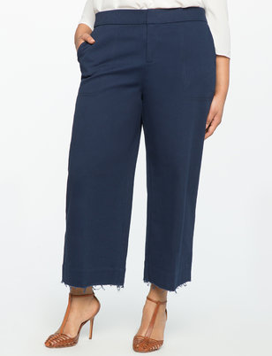 Wide Leg Cropped Chino Pant