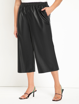 Faux Leather Culotte