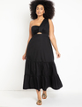 One Shoulder Gown Black
