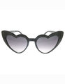 Winged Heart Shaped Sunglasses Black
