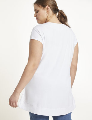 Essential V Neck Tunic Tee