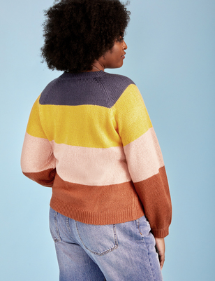 ELOQUII Elements Multi-Stripe Sweater
