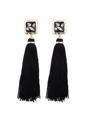 Tassel Earrings with Jeweled Post