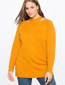 Cutout Tunic Sweater SUDAN BROWN