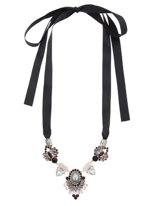 Ribbon Tie Statement Necklace