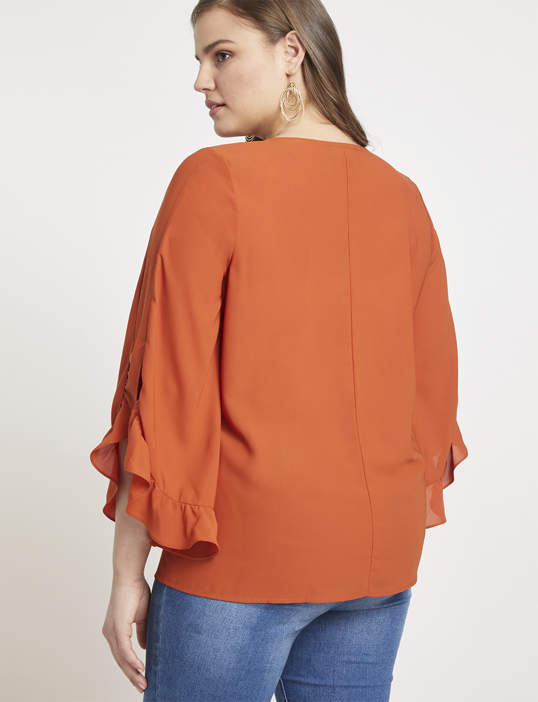Dramatic Ruffle Sleeve Top