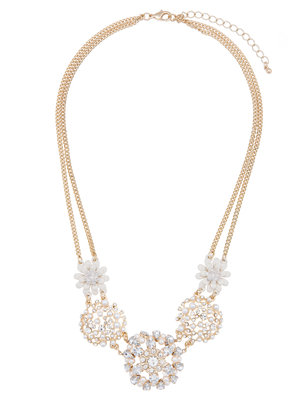 Pearl Detailed Statement Necklace