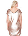 Studio Sequin Shift Dress Rose Gold