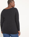 Ribbed Cross Front Sweater Black