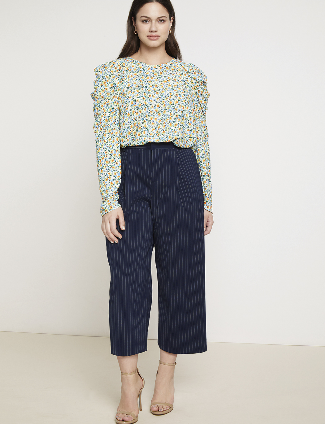 Jason Wu/ELOQUII Draped Puff Sleeve Blouse