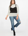 Layering Ribbed Top Totally Black