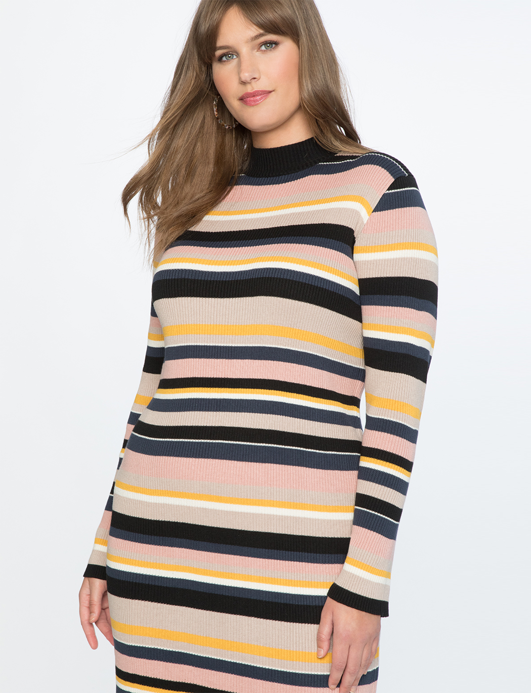 Striped Sweater Dress | Women\'s Plus Size Dresses | ELOQUII