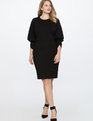 Drama Sleeve Ruched Front Dress Totally Black