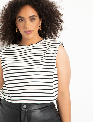 Striped Drama Shoulder Tee