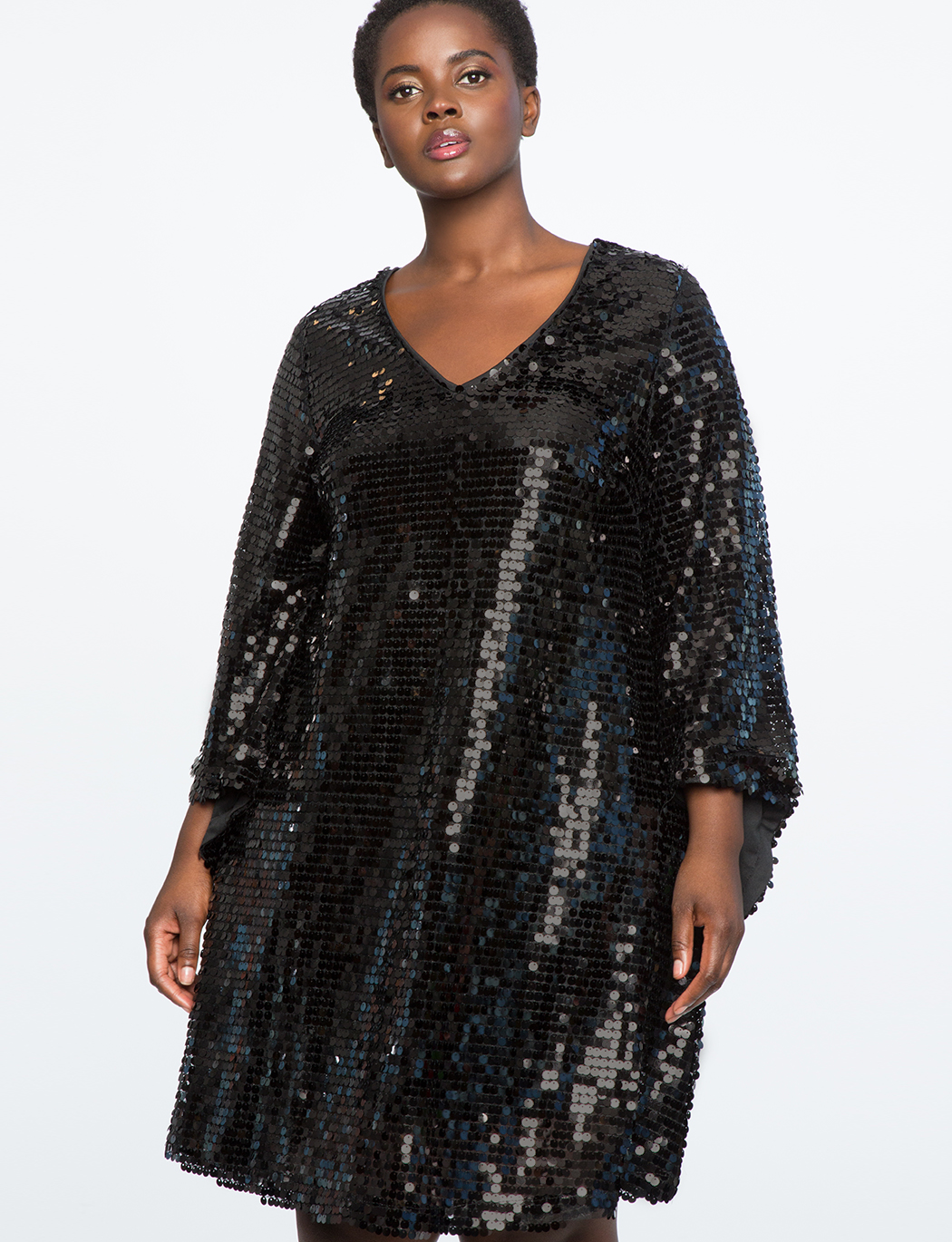 Flare Sleeve Sequin Dress | Women\'s Plus Size Dresses | ELOQUII