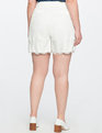 Studio Pleated Scalloped Shorts Whitetail