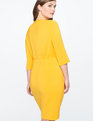 Structured Work Dress with Bow Detail GOLDENROD