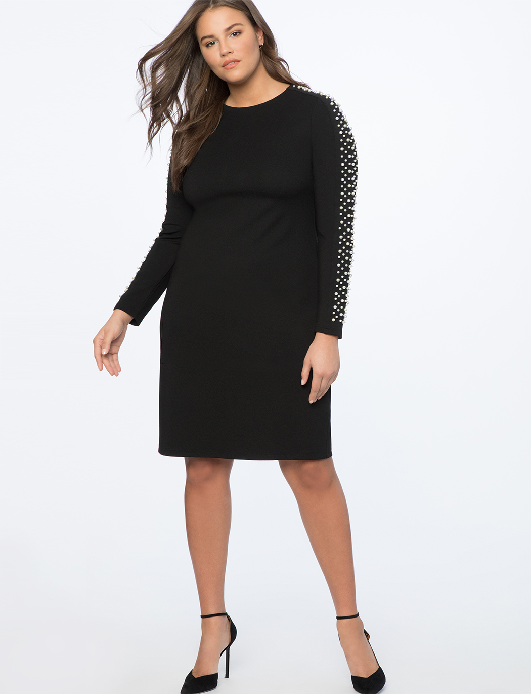 Embellished Sleeve Dress
