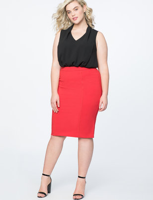 Stretch Work Pencil Skirt