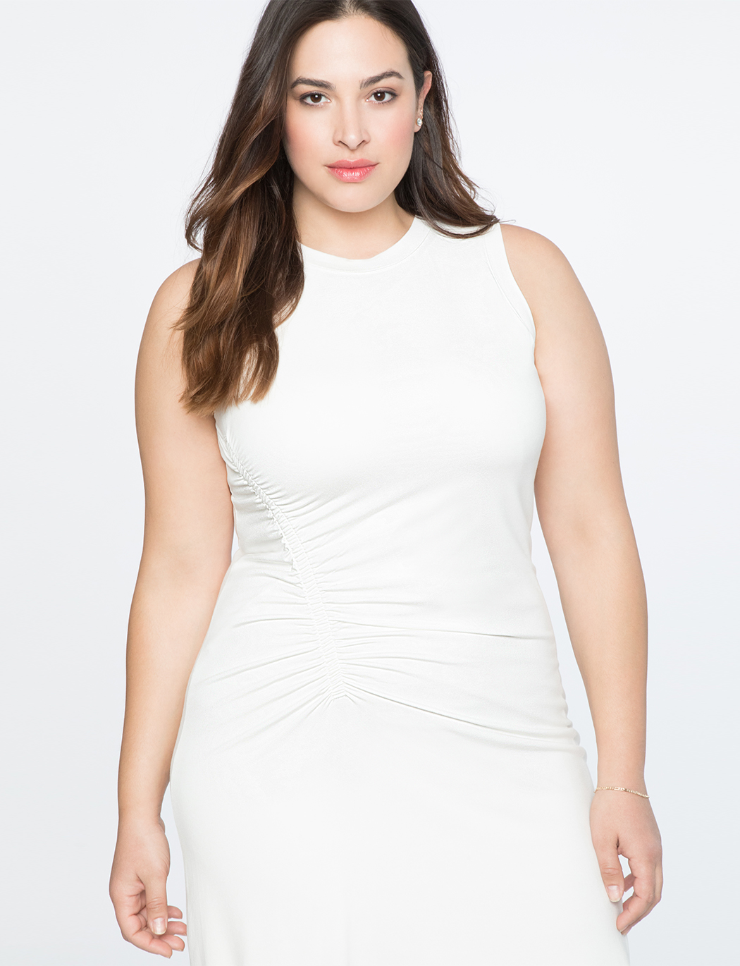 Gathered Side Tank Dress | Women\'s Plus Size Dresses | ELOQUII