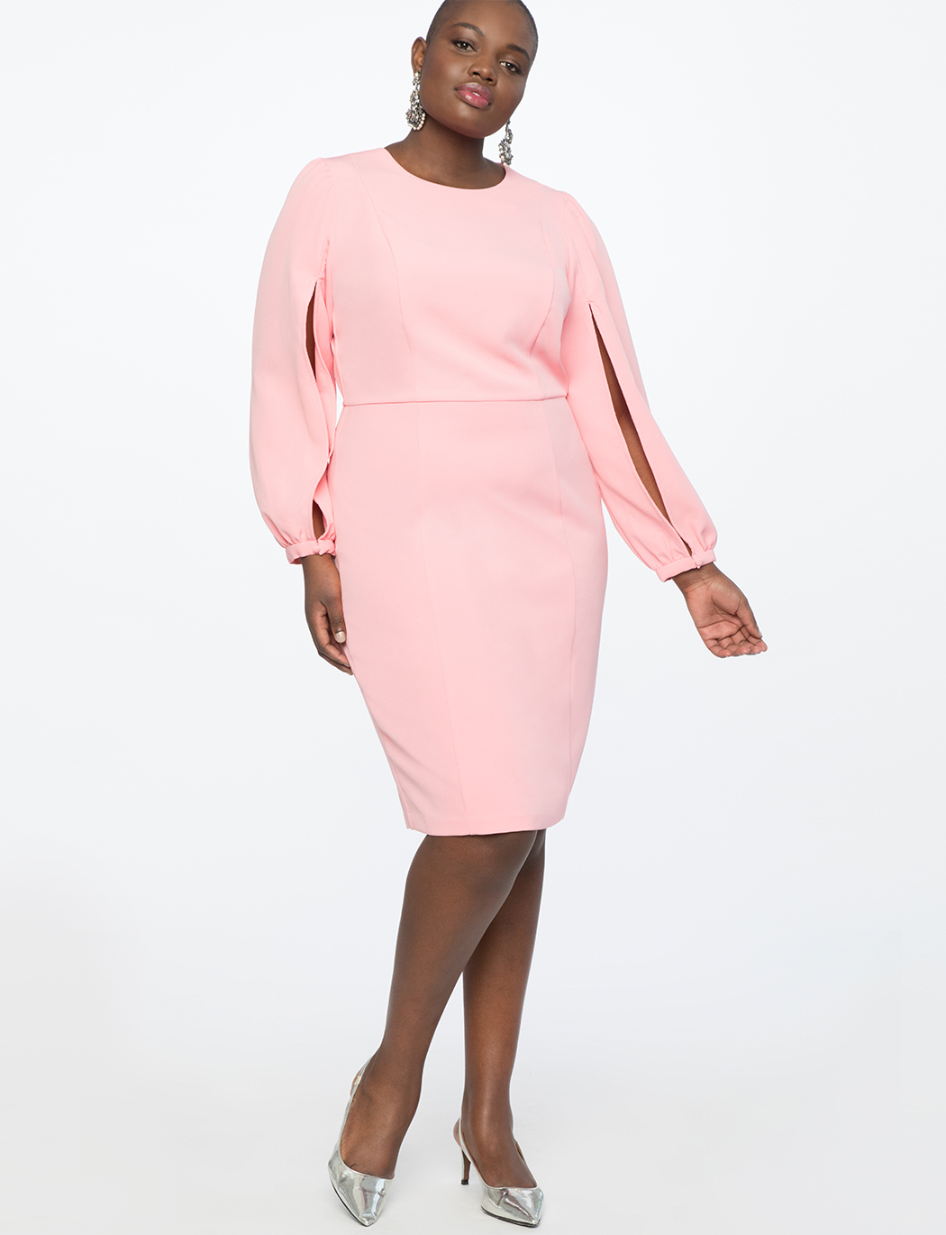 Slit Sleeve Work Dress | Women\'s Plus Size Dresses | ELOQUII