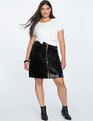 Vinyl Mini Skirt Totally Black