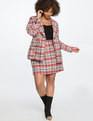 Tweed Blazer Multicolor Plaid