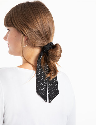 Polka Dot Scrunchie with Tie