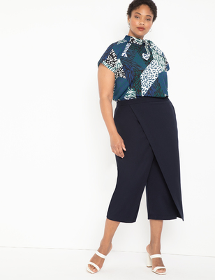 Crop Pant with Overlay