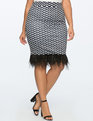 Printed Skirt with Feather Hem SQUIGGLY SANCTUARY PRINT