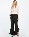 Drama Ruffle Trouser Totally Black