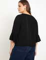 Belle Sleeve Blouse Totally Black