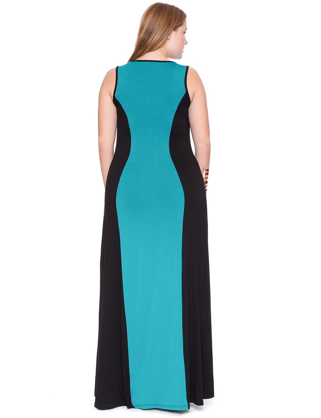 Colorblock Maxi Dress | Women\'s Plus Size Dresses | ELOQUII