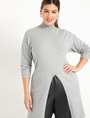 ELOQUII Elements Split Front Tunic