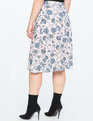 Asymmetrical Midi Skirt  Just Flowers