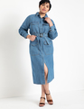 Denim Utility Dress Medium Wash