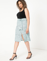 Tie Front Skirt with Slits Easy Dot